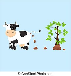 Fertilizing the land - Dutch dairy cow pooping and...
