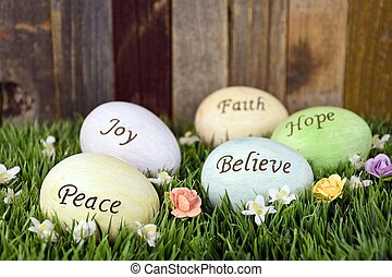 inspirational Easter eggs - Inspiration Easter eggs in grass...