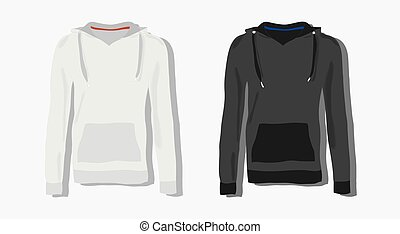 realistically painted hoody, beautiful hoody in flat style