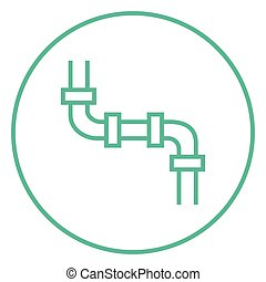 Water pipeline line icon - Water pipeline thick line icon...