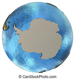 Antarctic continent on Earth