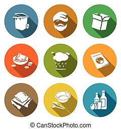 Social phenomenon homeless Icons Set Vector Illustration -...