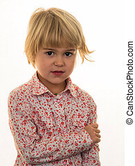 pensive girl - a little girl with a thoughtful expression