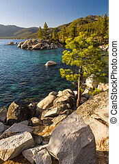 Sunset at Sand Harbour, Lake Tahoe - Sunset at Sand Harbour...