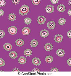 Eyes circles or colored blown seamless pattern Vector...