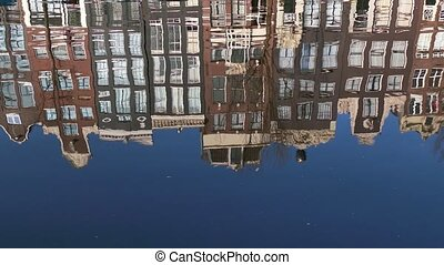 Traditional Houses Amsterdam - Urban landscape, city view of...