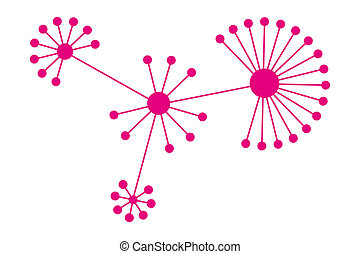 social networking concept, people connected by a network...