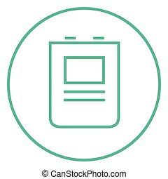 Heart defibrillator line icon - Heart defibrillator thick...