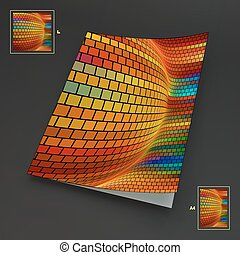 Colorful Textbook, Booklet or Notebook Mock-up.