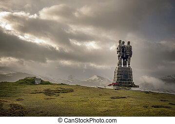 Commando Statue in the great glen Scottish Highlands