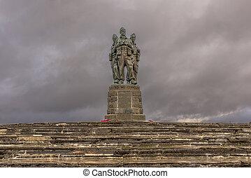 Commando Memorial - Commando Statue in the great glen...