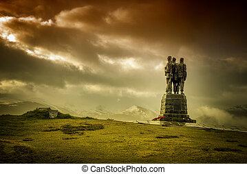 Commando Memorial Statue - Commando Statue in the great glen...