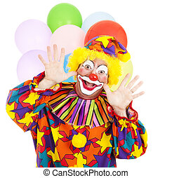 Funny Birthday Clown - Funny birthday clown with balloons...