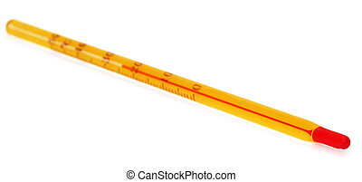 Thermometer over white background