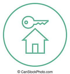 Key for house line icon.