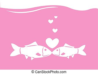 fishes kissing
