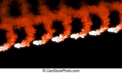 Orange meshy swirls of smoke