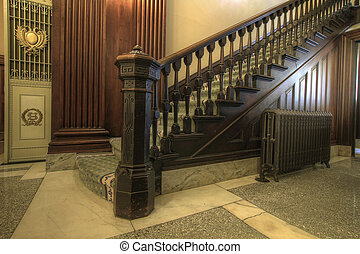 Staircase inside Historic Courthouse - Staircase inside...