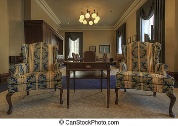 Antique Furniture in Historic Building Conference Room