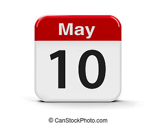 10th May - Calendar web button - The Tenth of May,...