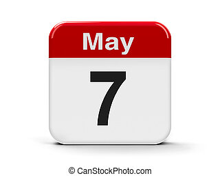 7th May - Calendar web button - The Seventh of May,...