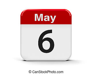 6th May - Calendar web button - The Sixth of May,...
