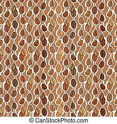 Seamless coffee texture - Brown seamless pattern coffee...