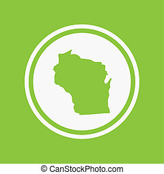 Map of the the state Wisconsin - A Map of the the state...
