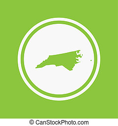 Map of the the state North Carolina - A Map of the the state...