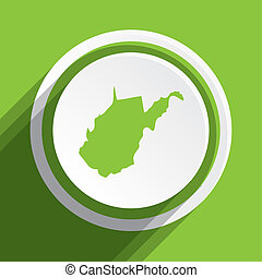 Map of the the state West Virginia - A Map of the the state...