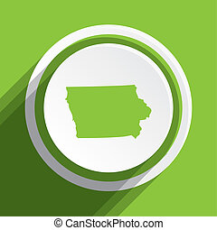 Map of the the state Iowa - A Map of the the state Iowa