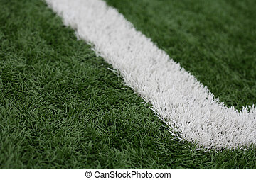 Green and White Astroturf - A horizontal colour photograph...