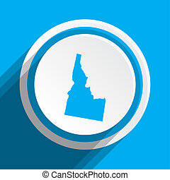 Map of the the state Idaho - A Map of the the state Idaho