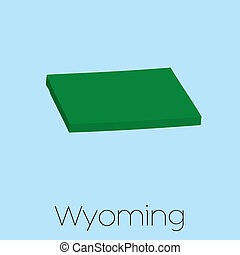 Map of the the state Wyoming - A Map of the the state...