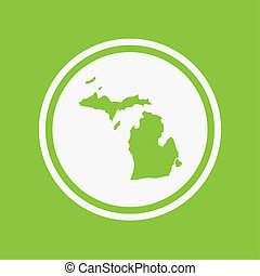 Map of the the state Michigan - A Map of the the state...