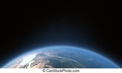Flying Over The Earth. - Flying Over The Earth 3D Animation...