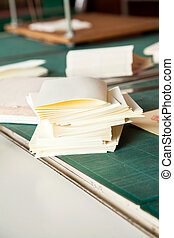 Notebook Papers On Table In Industry