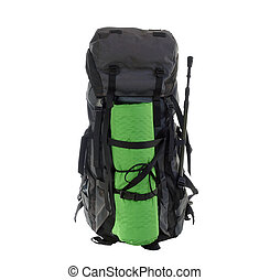 Loaded Backpack - Stuffed expedition pack on the eve of a...