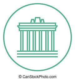 Acropolis of Athens line icon - Acropolis of Athens thick...