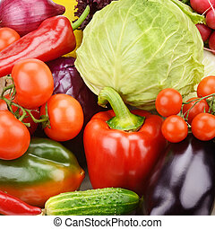 bright background of vegetables