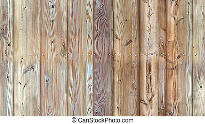 HD seamless pattern, wall of aged planks nailed together