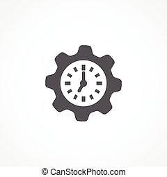 Productivity icon - Gray Productivity icon on white