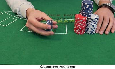 Tricks with Stack of Poker Chips