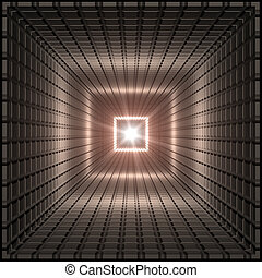 quadrado, túnel