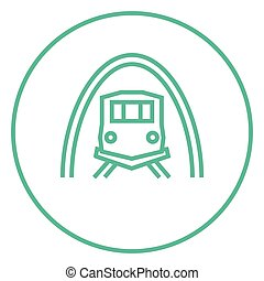 Railway tunnel line icon - Railway tunnel thick line icon...