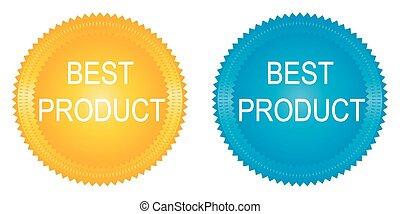 best product badges set on white background