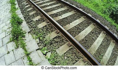 Railroad sea summer - Near coast of Black Sea Railways