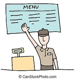 Fast Food Cashier - An image of a Fast Food Cashier.