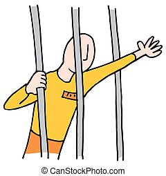Prisoner Behind Bars - An image of a Prisoner Behind Bars.