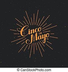 Cinco de Mayo  illustration.